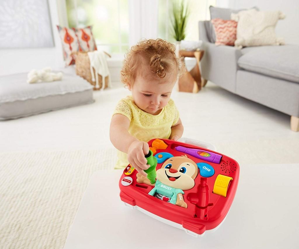 美国著名玩具公司  费雪培养学习乐趣的小狗玩具,会唱歌会说话