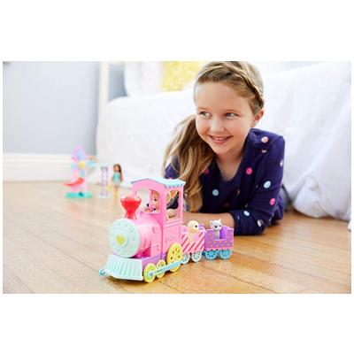 芭比娃娃  Barbie  Chelsea 玩偶和宠物火车套装