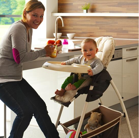 解放妈妈双手 德国hauck 多功能可折叠宝宝餐椅