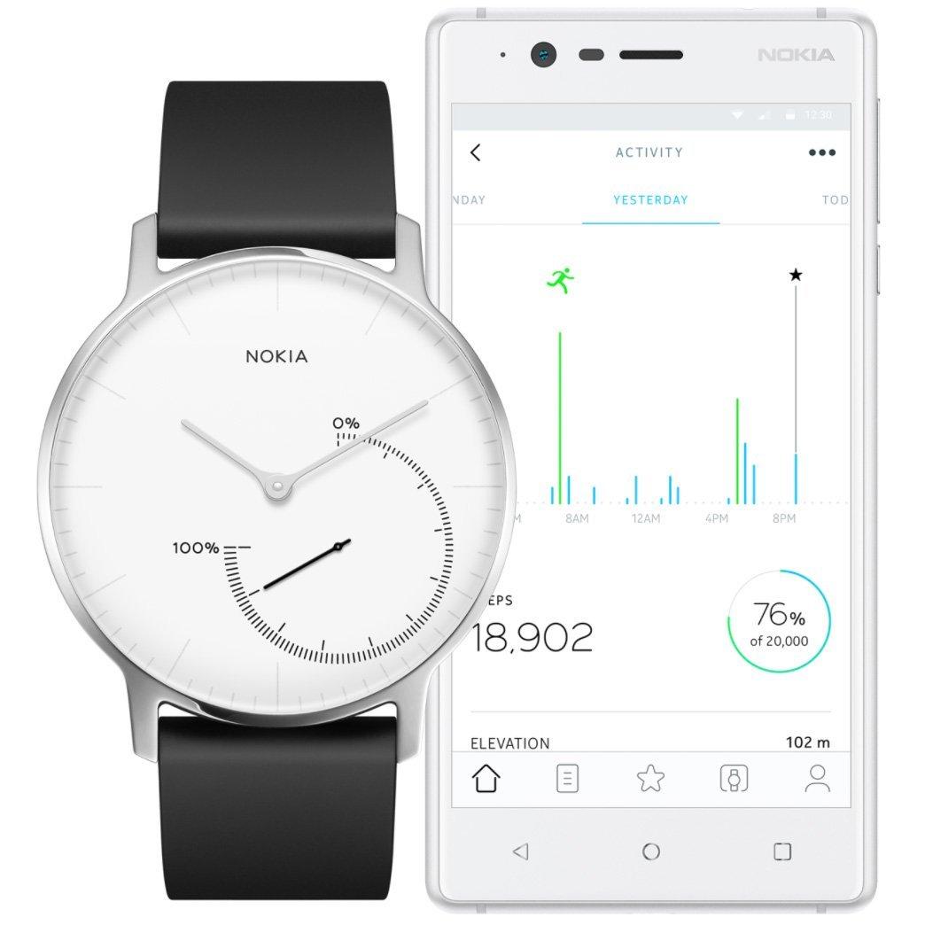 Withings / Nokia Steel Fitnessuhr 高颜值智能手表(2色可选)