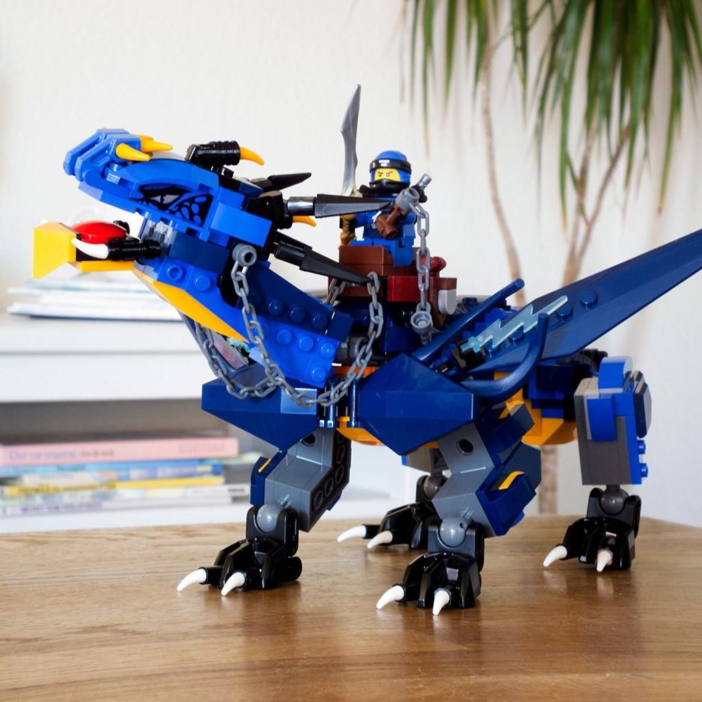 Lego乐高 幻影忍者系列 雷电暴风神龙 积木玩具