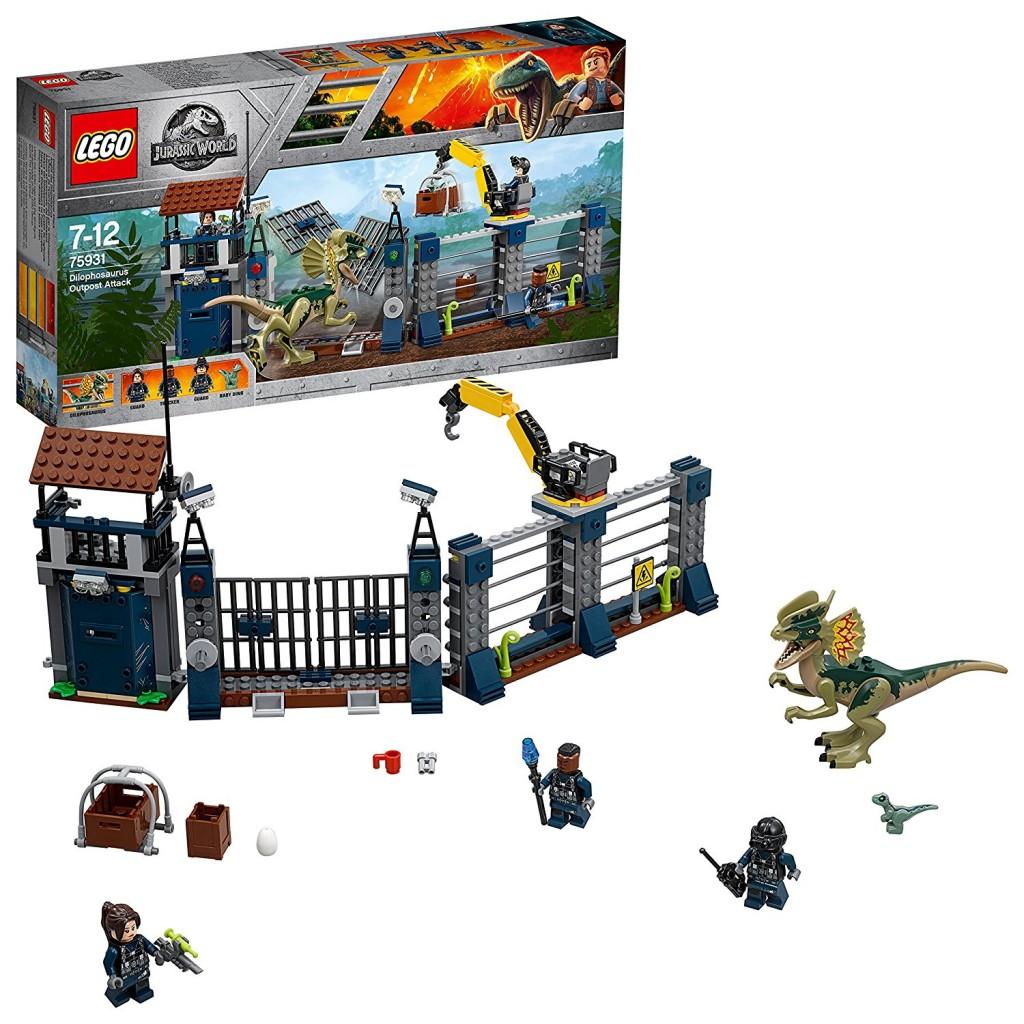 乐高Lego 侏罗纪世界 双棘龙基地攻击