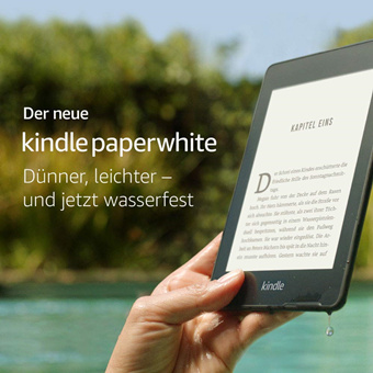 Kindle Paperwhite 具有防水功能 空间也增一倍