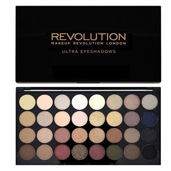 Makeup Revolution Ultra 32 Eyeshadows珠光+哑光32色基础盘