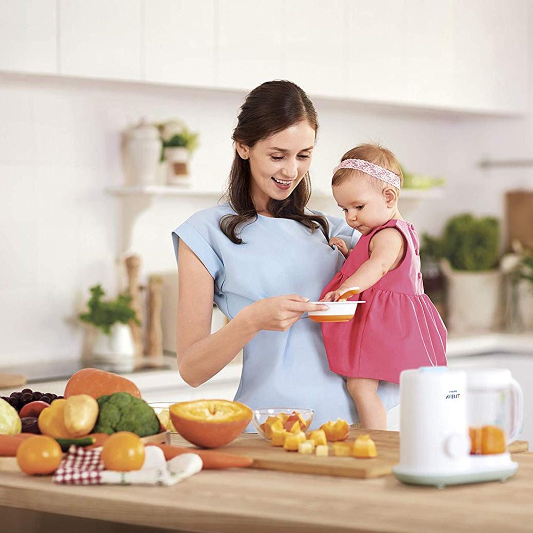 Philips AVENT Dampfgaren & Mixen SCF862健康蒸制搅拌婴儿辅食料理机