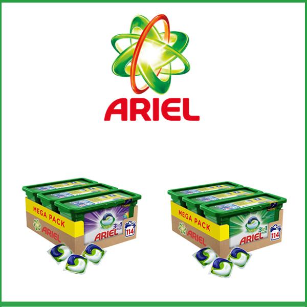 碧浪 Ariel 三色洗衣凝珠 Mega Pack(114 颗装 )净白 鲜亮 两种可选