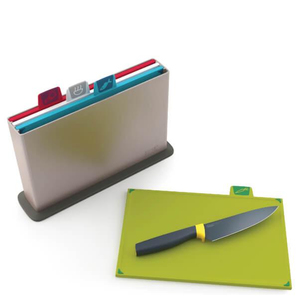 史低价,一套只要263元:Joseph Joseph分类砧板套装+赠送一把刀