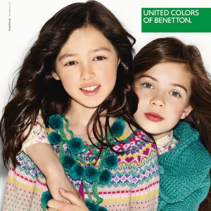沉闷冬季的明亮色彩 United Colors of Benetton童装