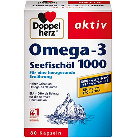 Doppelherz Omega-3 双心牌深海鱼油胶囊