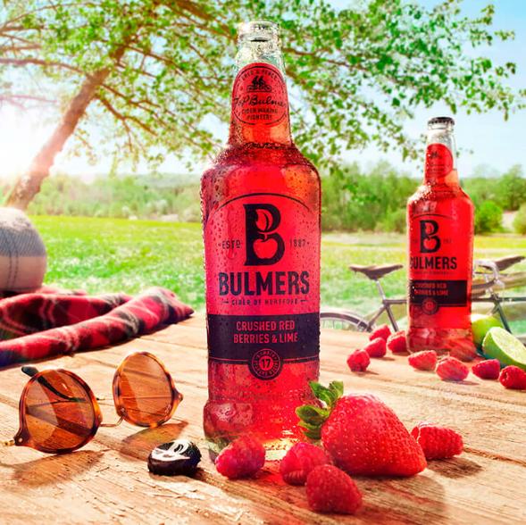 Bulmers Red Berries Cider 红浆果和青柠口味果酒 (12 x 0.5 l)
