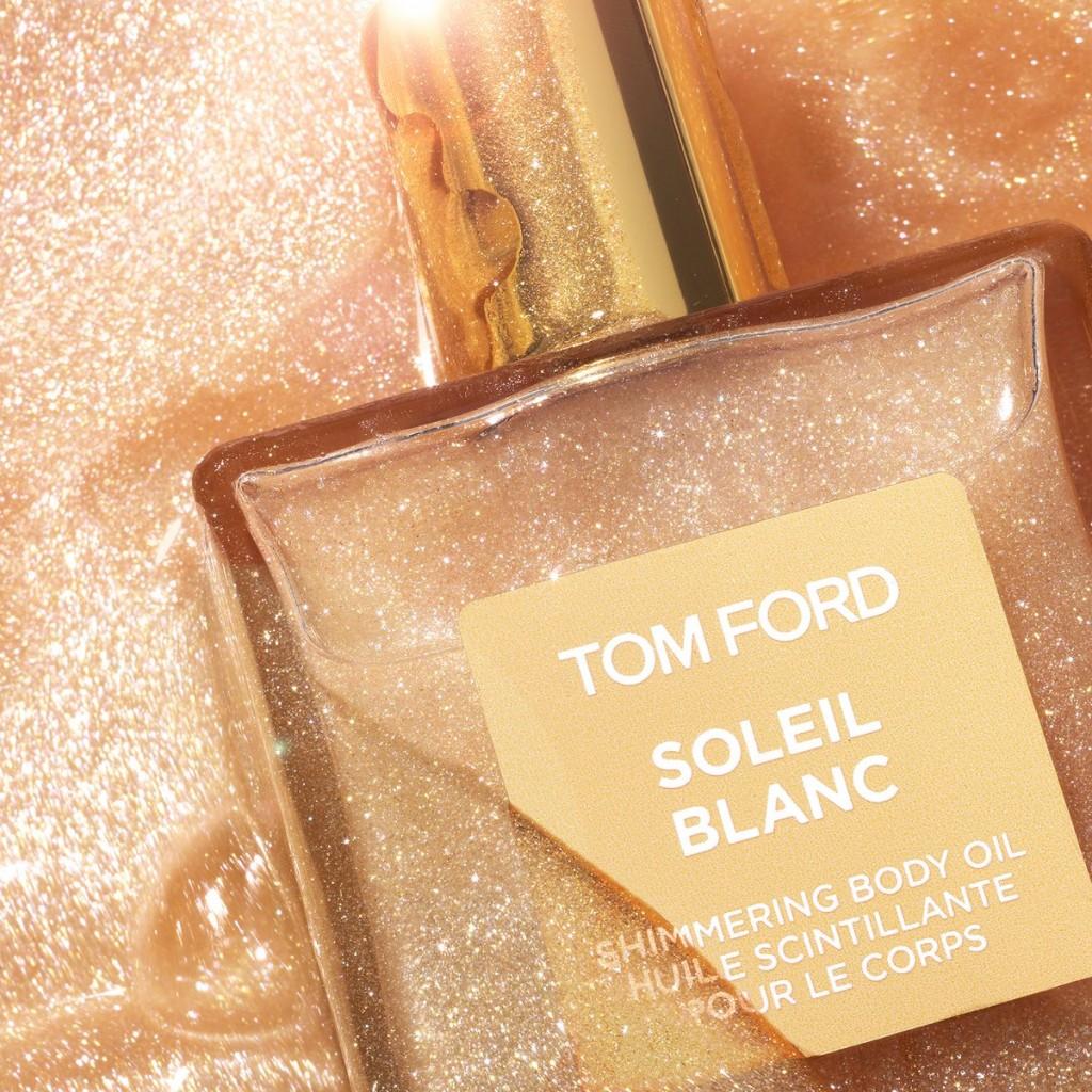 腿精们Party必备 TOM FORD Soleil Blanc 闪亮香体润肤油