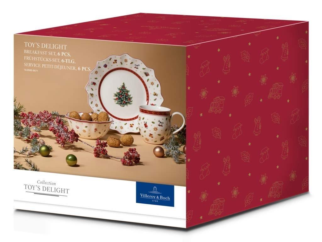 德国高品质日用瓷器 Villeroy & Boch唯宝 圣诞主题早餐六件套