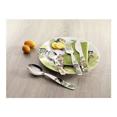 双立人ZWILLING  丛林系列儿童餐具套装 餐刀、餐叉、餐勺4件套