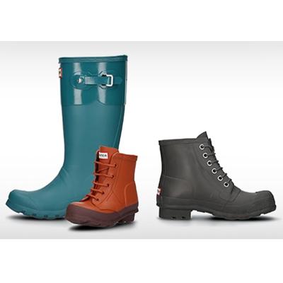 最美的不是下雨天 而是你穿着那双雨鞋 英国老牌Hunter雨靴