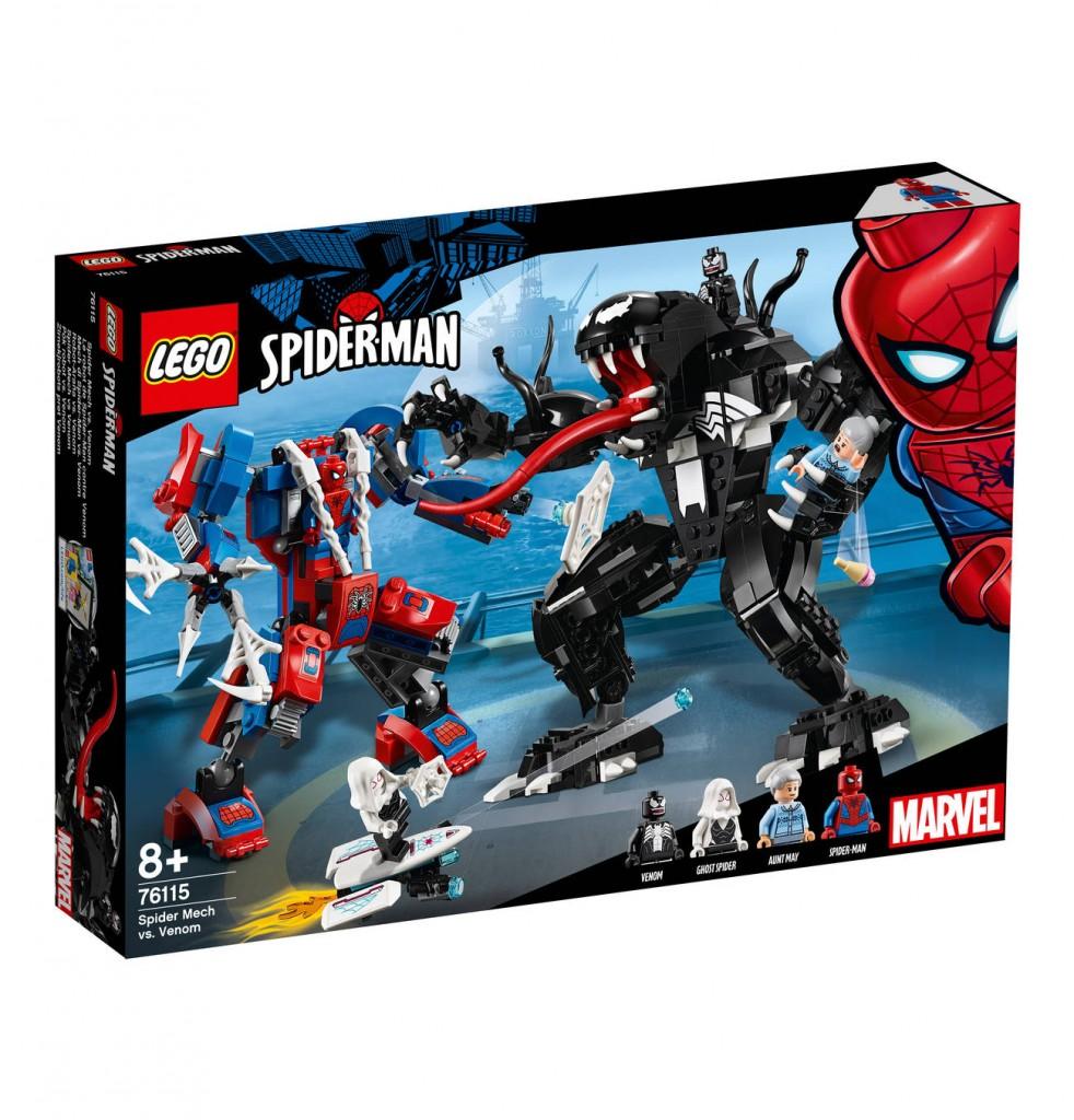 Lego Marvel Super Heroes 76115  Spider Mech vs. Venom 蜘蛛侠大战毒液!