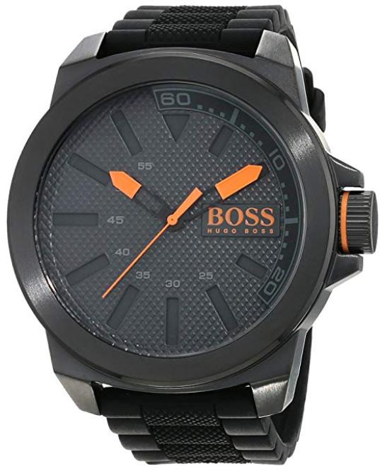 4.5星好评的Hugo Boss 橙黑配色 5.3cm表盘 男士手表