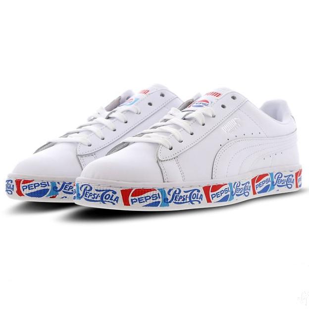 Enviar Funeral vertical  PUMA 携手百事可乐,推出Suede 50 周年联名系列!Puma X Pepsi Basket 女鞋特价69.99欧!_德淘网