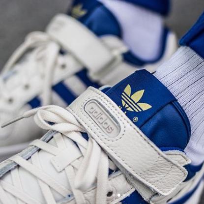 Adidas ORIGINALS FORUM LOW 蓝白低帮复古篮球鞋