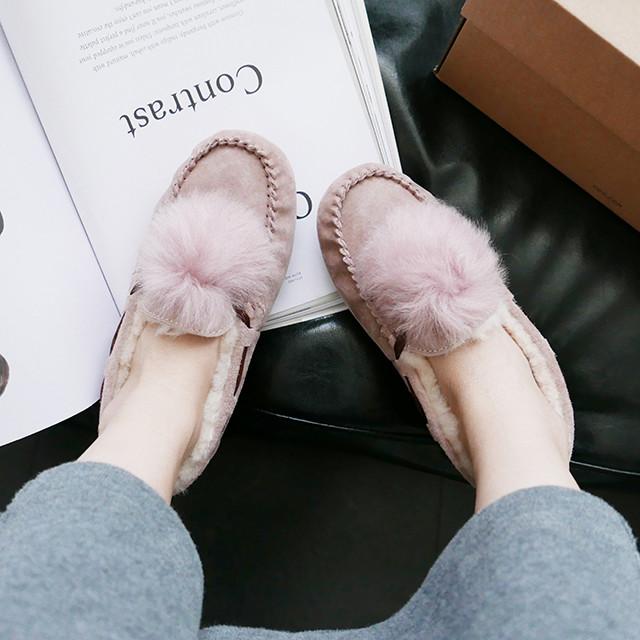 UGG Damen Dakota Pom Pom 毛球豆豆鞋