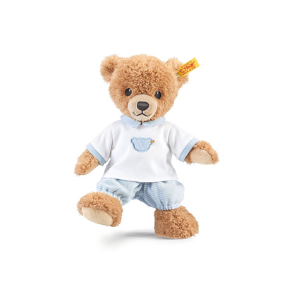 超萌!Steiff 金耳扣 蓝色睡衣泰迪小熊