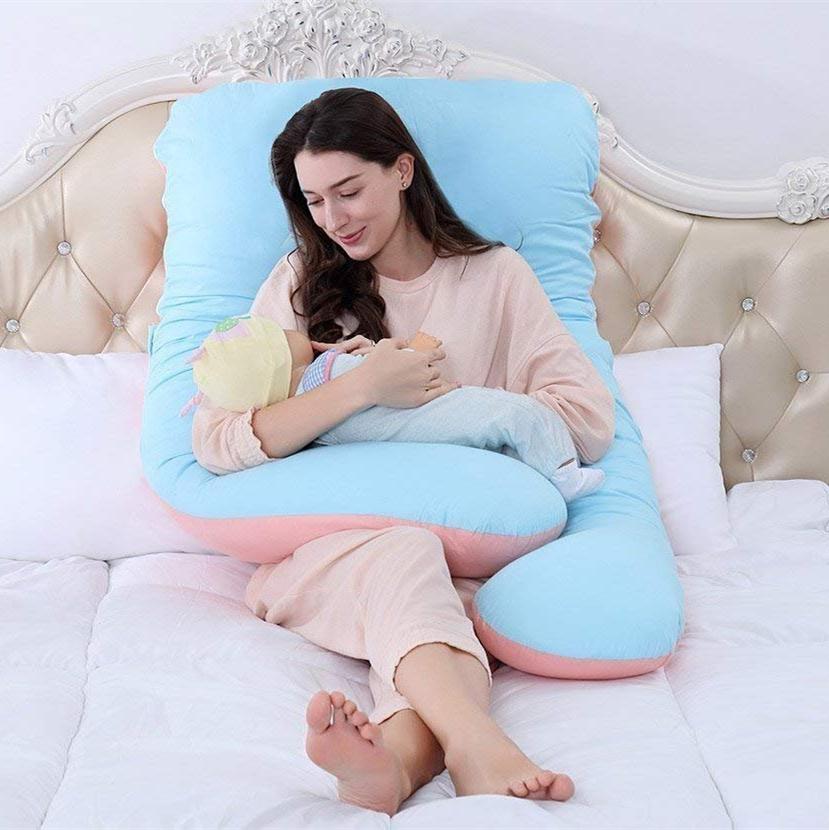 Queen Rose 可拆洗枕套 纯棉材质 U型孕妇枕