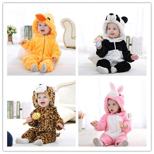 家有萌宝 MICHLEY 法兰绒动物造型 宝宝连体爬服