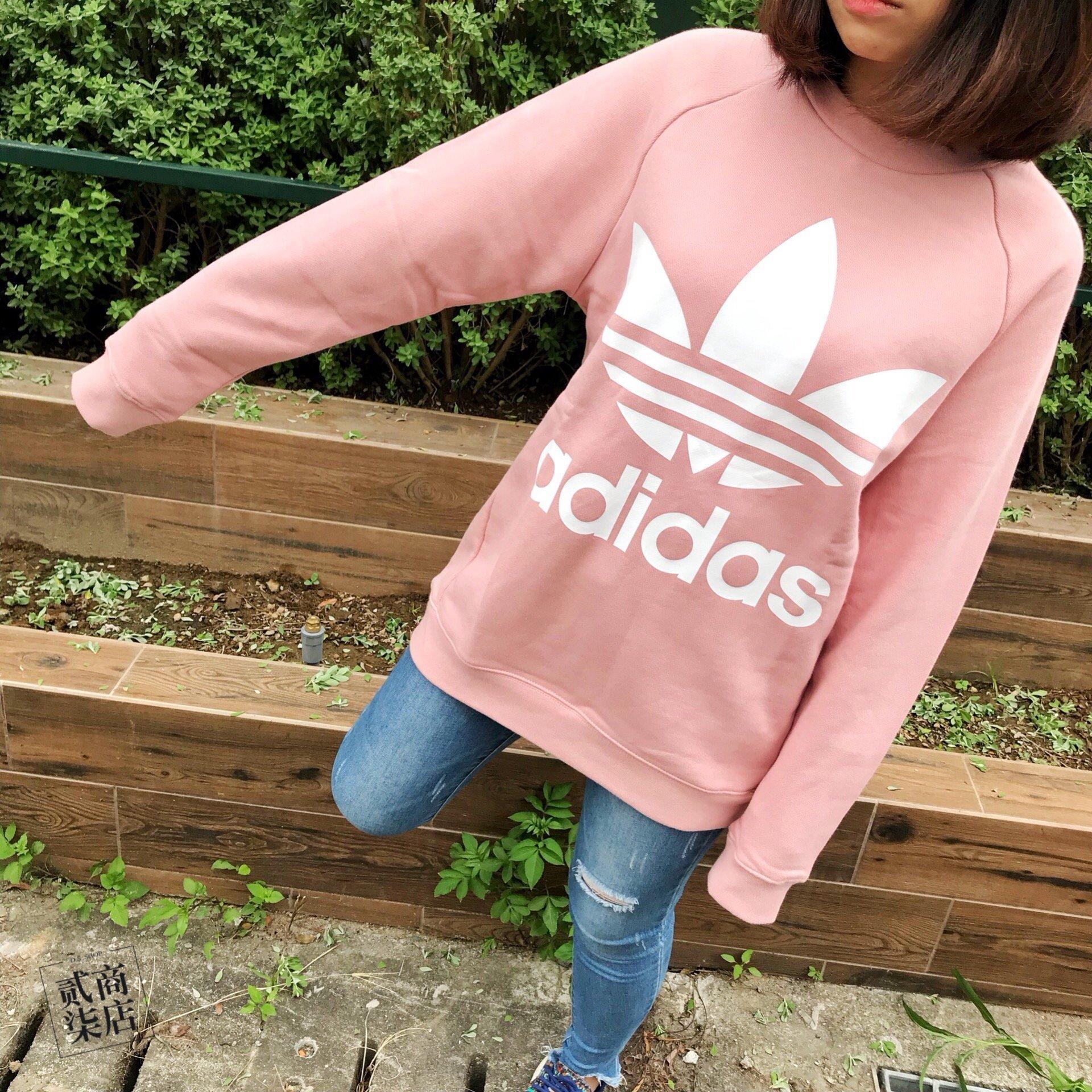 Adidas OVERSIZE SWEATSHIRT阿迪达斯三叶草女款卫衣