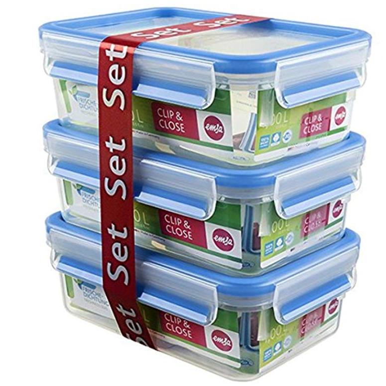 Emsa 508558 1L保鲜盒(三件套)