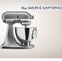 KitchenAid 5KSM95PSECU 多功能厨房机(4.3 升 防溅 300 W 扁平搅拌器 面团钩和打蛋器)