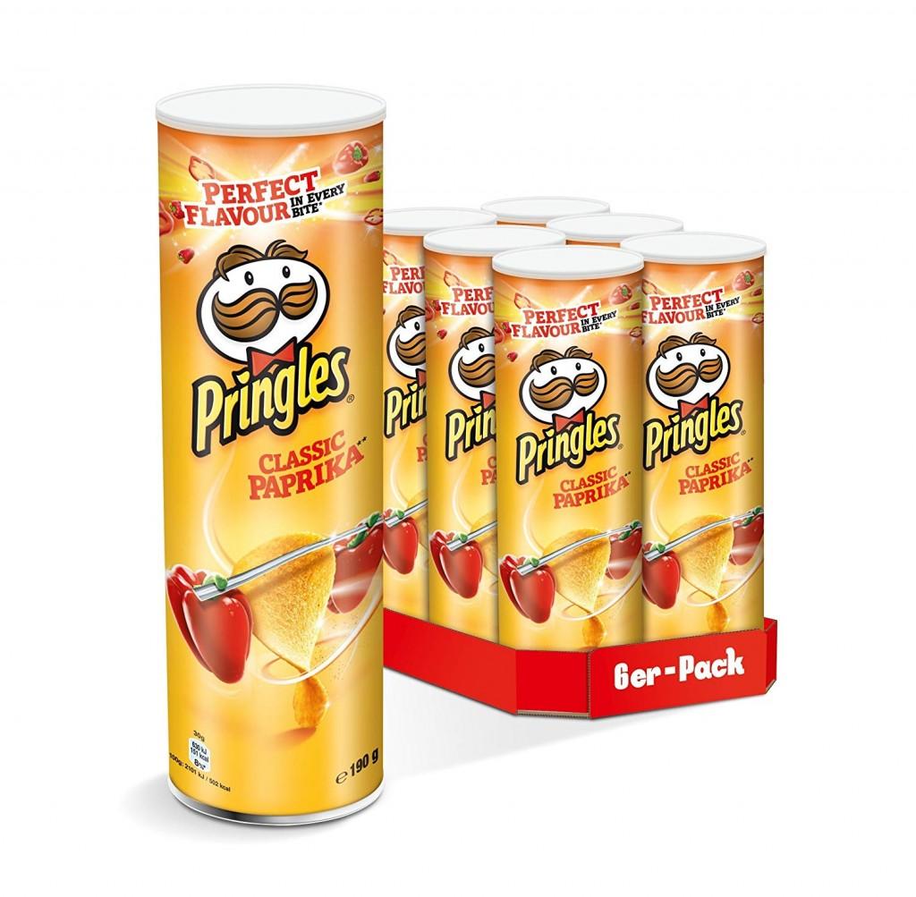 Pringles 品客薯片 Classic Paprika 经典香辣味(6罐装)