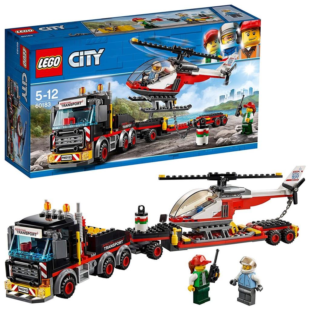 乐高(LEGO)积木 城市组系列City重型直升机运输车