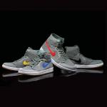 Air Jordan 1 Retro High Flyknit 灰绿配色 大童鞋,女生可穿