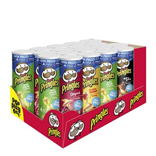 Pringles 品客薯片 四种口味超值分享装(18罐装)