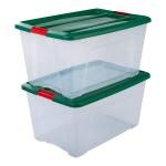 IRIS OHYAMA 塑料收纳箱 45L 两只组合装