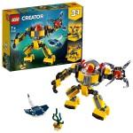 """探索深海并寻找沉没的宝藏 乐高Lego Creator 三合一""""水下机器人"""" 31090"""