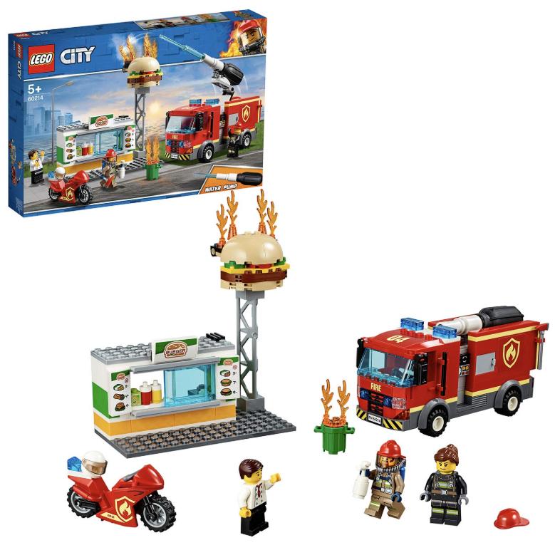LEGO 乐高 城市系列 汉堡店消防救援 60214
