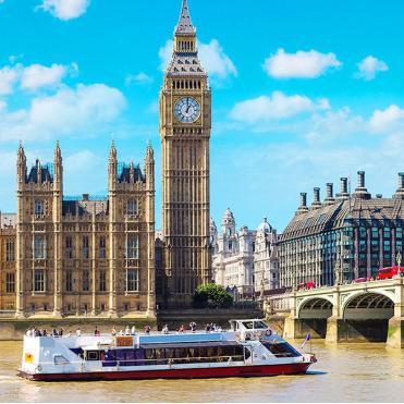 漫步在春天的泰晤士河边 伦敦之旅