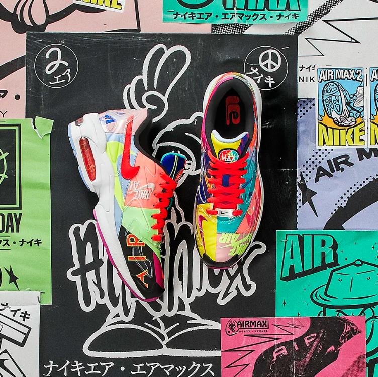 日系撞色 atmos x Nike 联名 Air Max2 Light