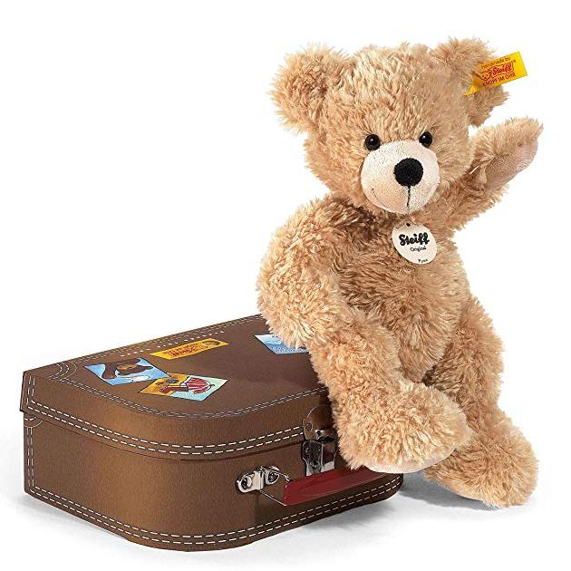 和Steiff泰迪熊一起过假期吧!Steiff 111471 Teddybär Fynn 旅行箱典藏版