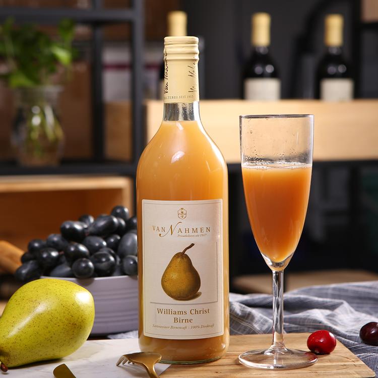 德国总统府总厨师长指定果汁品牌van Nahmen高品质梨汁 内含6颗梨 超浓郁果汁