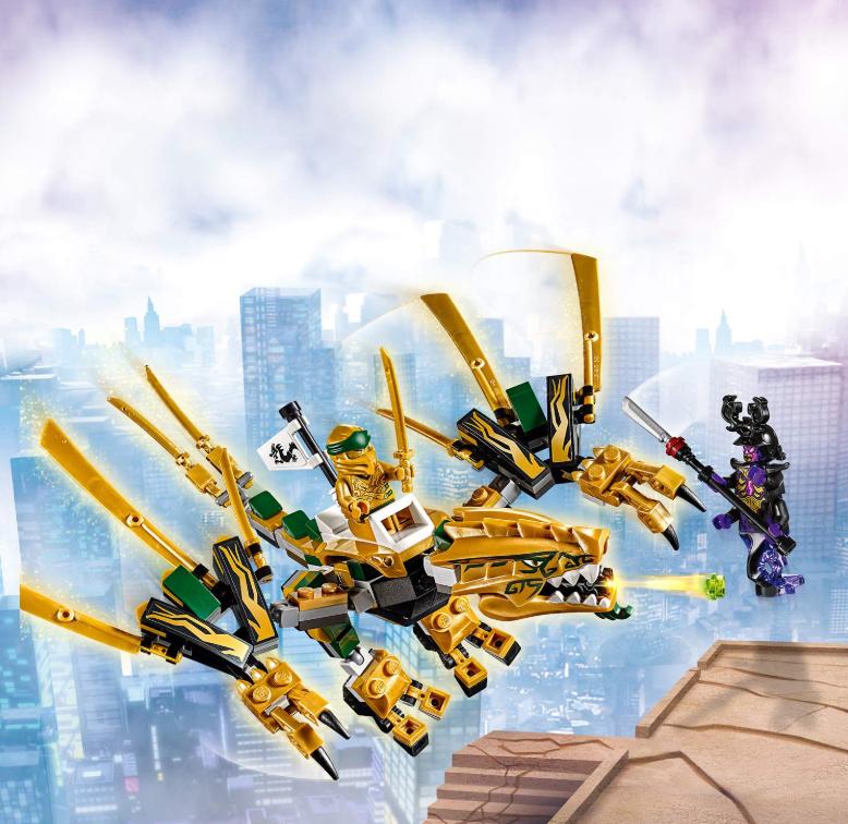 LEGO乐高 Ninjago幻影忍者系列 幻影忍者黄金飞龙70666