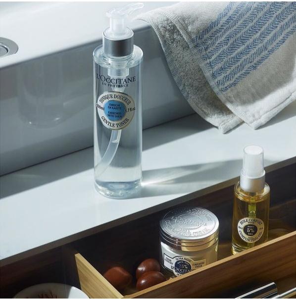 卸妆、洁面、爽肤三效合一 L'OCCITANE 欧舒丹乳木果温和洁肤水