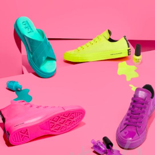 超适合夏天的跨界联名Converse x OPI 缤纷色系鞋款专场