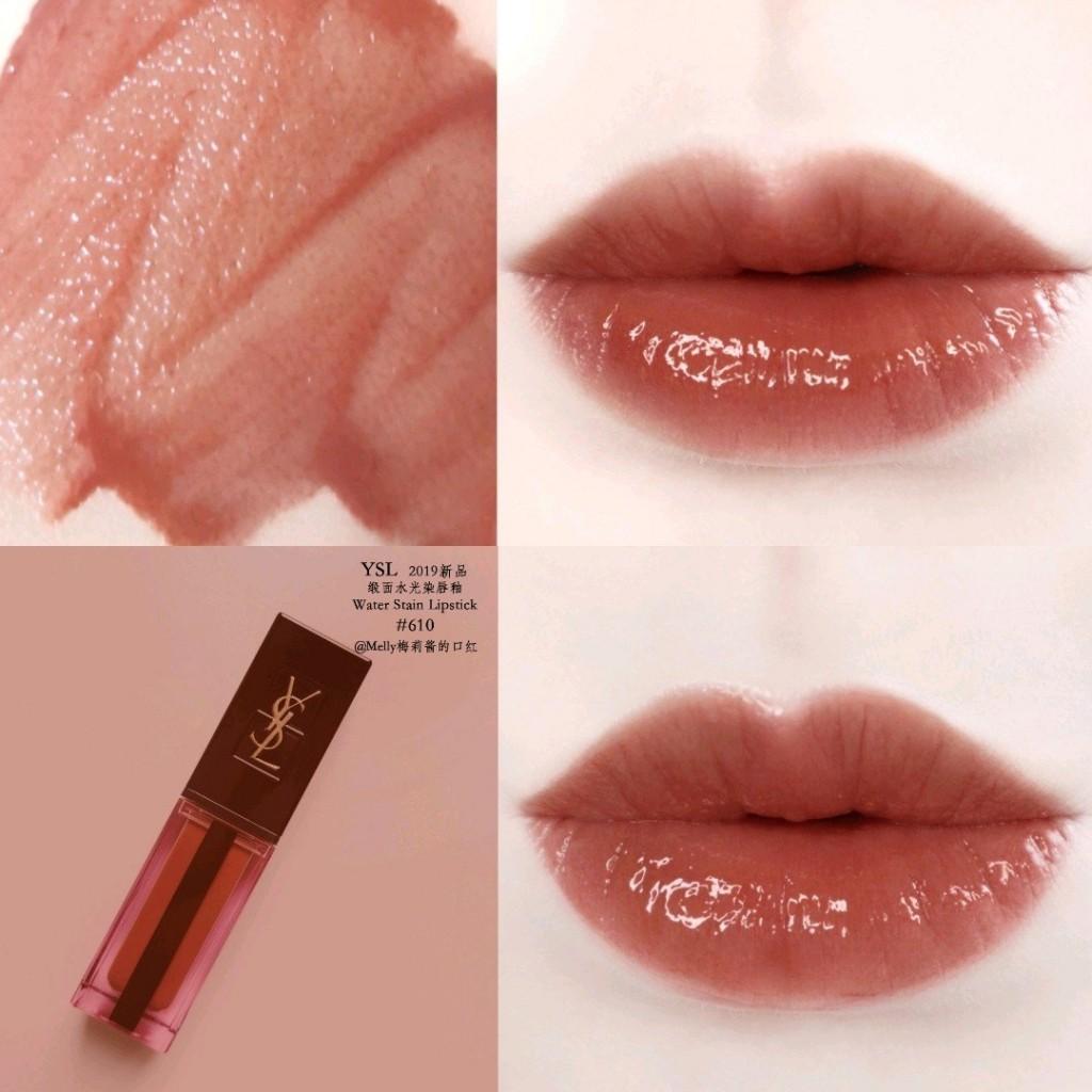 YSL奢华缎面水光染唇釉 除了610泰奶色,你还需要了解612日落橙,613枣红色和617红豆玫瑰