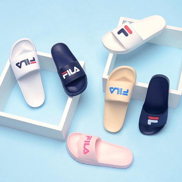 天气热就穿拖鞋吧!Fila logo拖鞋