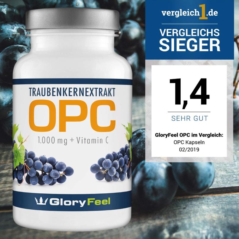 德国GloryFeel® OPC 葡萄籽胶囊
