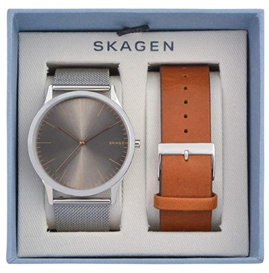 丹麦小众北欧风小众品牌SKAGEN 男款SKW1097 双表带