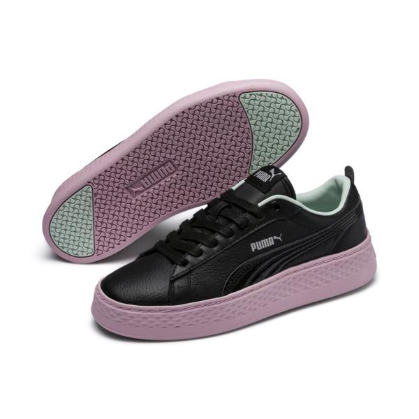 PUMA 女士经典黑色板鞋
