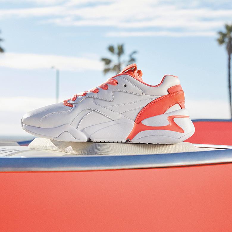 活泼积极、乐观坚定的活珊瑚橘 PUMA x PANTONE Nova 2 运动鞋