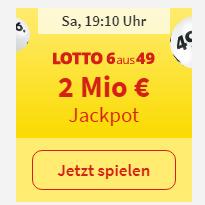 2 Mio € Jackpot就等你来拿!现在新用户玩 Lotto 6aus49